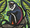 'Diana Monkey' - Linocut - Edition of 50. Image size approx 19x18cm