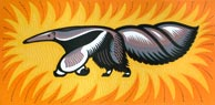 'Giant Anteater' - Linocut - Edition of 50. Image size approx 42x21cm