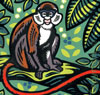 'Red Tailed Monkey' - Linocut - Edition of 50. Image size approx 19x18cm