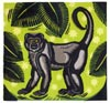 'Woolly Monkey' - Linocut - Edition of 50. Image size approx 19x18cm